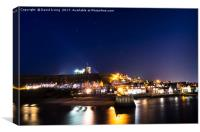 Winter Evening at Whitby Yorkshire, Canvas Print