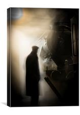 Ghostly Engineman, Canvas Print