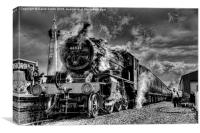 Golden  age of steam, Canvas Print