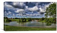 Blenheim under a Cloudy Sky, Canvas Print