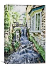House by the Stream, Canvas Print