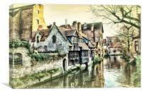 Picturesque Brugge, Canvas Print