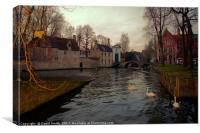 Romantic Bruges, Canvas Print