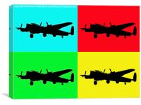 Lanc pop art, Canvas Print