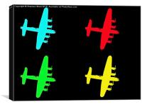 Avro Lancaster pop art, Canvas Print