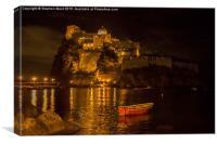 Aragonese Castle Ischia, Canvas Print