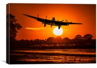 Twighlight Take off, Canvas Print