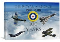 A 100 years (with Vulcan) , Canvas Print