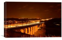 Medway Bridge at night, Canvas Print