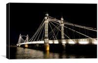 london albert bridge at night, Canvas Print