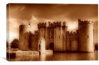 Bodiam Castle Sepia , Canvas Print