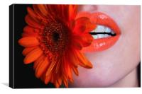 Flower in Mouth, Canvas Print