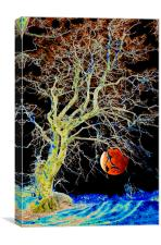 Red Moon Rising, Canvas Print