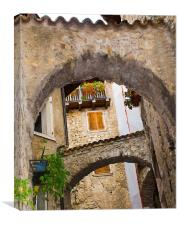 Hidden Alleyways Cannali di Tenneo, Canvas Print