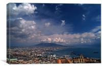 Napoli bay, Canvas Print