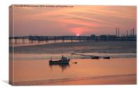 Canvey Island Sunset, Canvas Print
