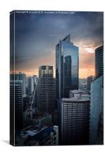 Manila Skyscraper, Canvas Print