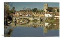 Aylesford Bridge, Kent, Canvas Print