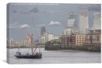 The Thames Barge Gladys, Canvas Print