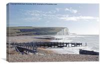 The Seven Sisters, from Cuckmere Haven, Canvas Print