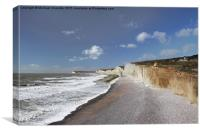 From Birling Gap to Cuckmere Haven, the Seven Sis, Canvas Print