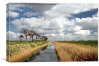 Appledore waterway, Canvas Print