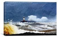 Newhaven storm, Canvas Print