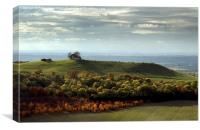 View from Coombe Hill towards Beacon hill Bucks., Canvas Print