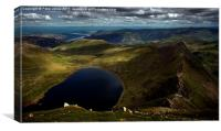 View from the summit of Helvellyn, Canvas Print