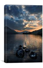 Sunset over Buttermere in the Lake District., Canvas Print