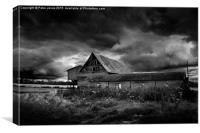 The Black Barn, Canvas Print