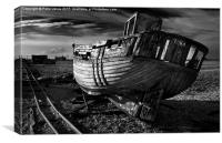 Abandoned Fishing Boat at Dungeness., Canvas Print