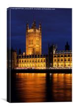 Houses of Parliament at Night, Canvas Print