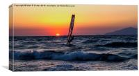 Sunset WindSurfer, Canvas Print