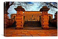 A digitally converted painting of St Georges Hall , Canvas Print