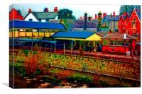 A digitally converted painting of Llangollen railw, Canvas Print