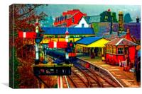 A digitally converted painting of Llangollen railw, Canvas Print