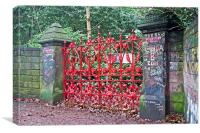 """""""The Beatles"""" heritage trail, Strawberry Field Gat, Canvas Print"""
