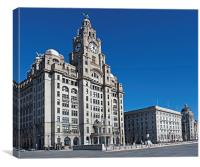Liverpool's World Heritage status waterfront build, Canvas Print