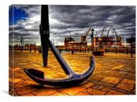 large anchor in Albert Dock Liverpool UK, Canvas Print
