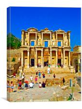 The Library of Celsus in Ephesus, Canvas Print