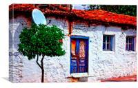 Turkish village house, Canvas Print