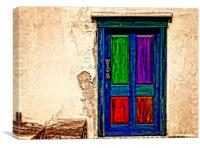 an old weathered door, Canvas Print