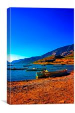Bafa Lake in Turkey, Canvas Print