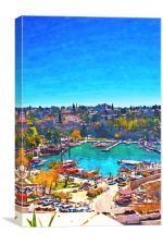 Kaleici harbour in Antalya Turkey, Canvas Print