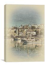Kaleici harbour Antalya Turkey, Canvas Print