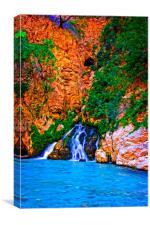 Saklikent Gorge in Turkey, Canvas Print