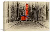 inner city back alleyway , Canvas Print