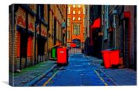 back streets of inner city Liverpool, Canvas Print