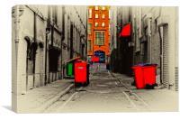inner city back alleyway, Canvas Print